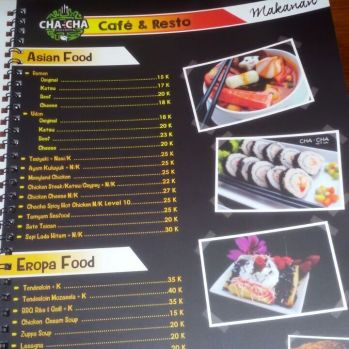 menu asian dan europa food