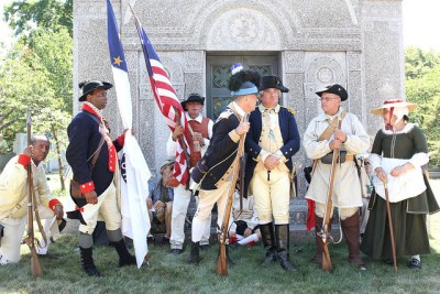 Photo of Revolutionary War actors at Battle of Brooklyn Day 2016