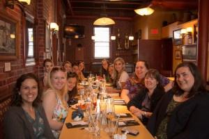 photo of Knickerbocker, NSDAR chapter junior members at dinner