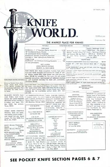 Knife World October 1975