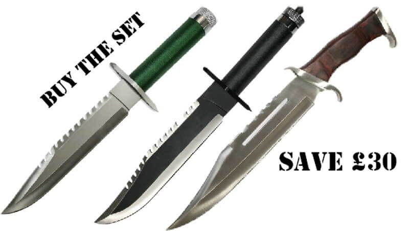 3 Rambo Knives - Collection Offer - Knifewarehouse
