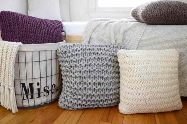 Free Knitting Patterns For Throw Pillows Crafty Tutorials