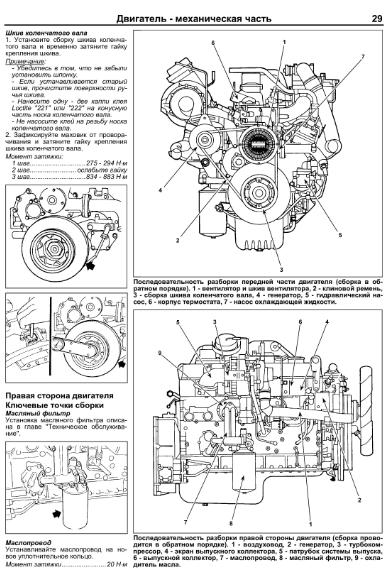 Книга по ремонту двигателей Nissan Diesel UD, модели FE6