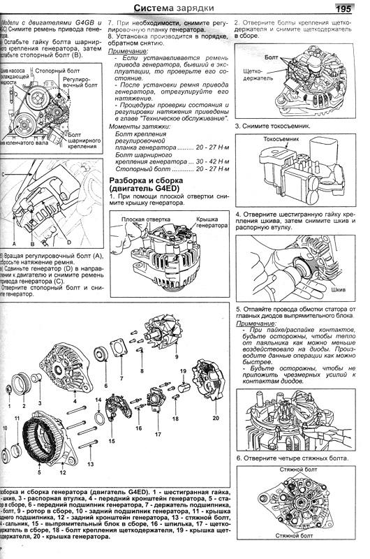 Книга по ремонту и обслуживанию Hyundai Elantra HD с 2006
