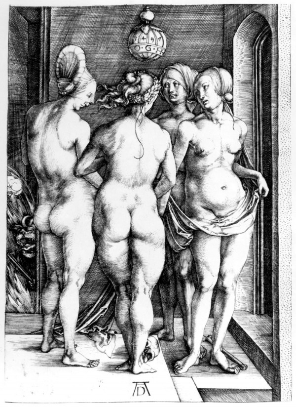 "Albrecht Durer, ""Four Naked Women."" Photo from wikiart.org"