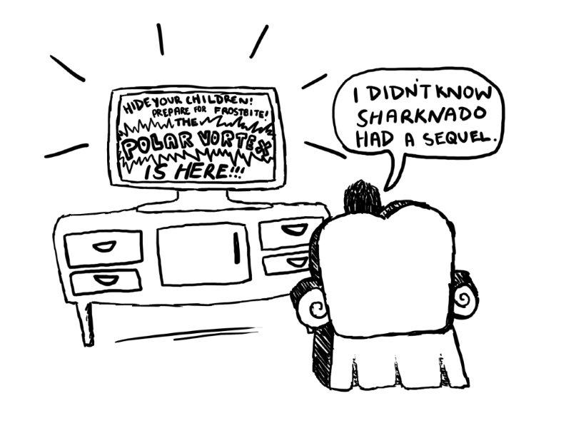 The Knight Crier : COMICS: Polar Vortex strikes!