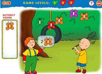 Caillou BIRTHDAY PARTY & MAGIC PLAYHOUSE 2 PC MAC GAMES