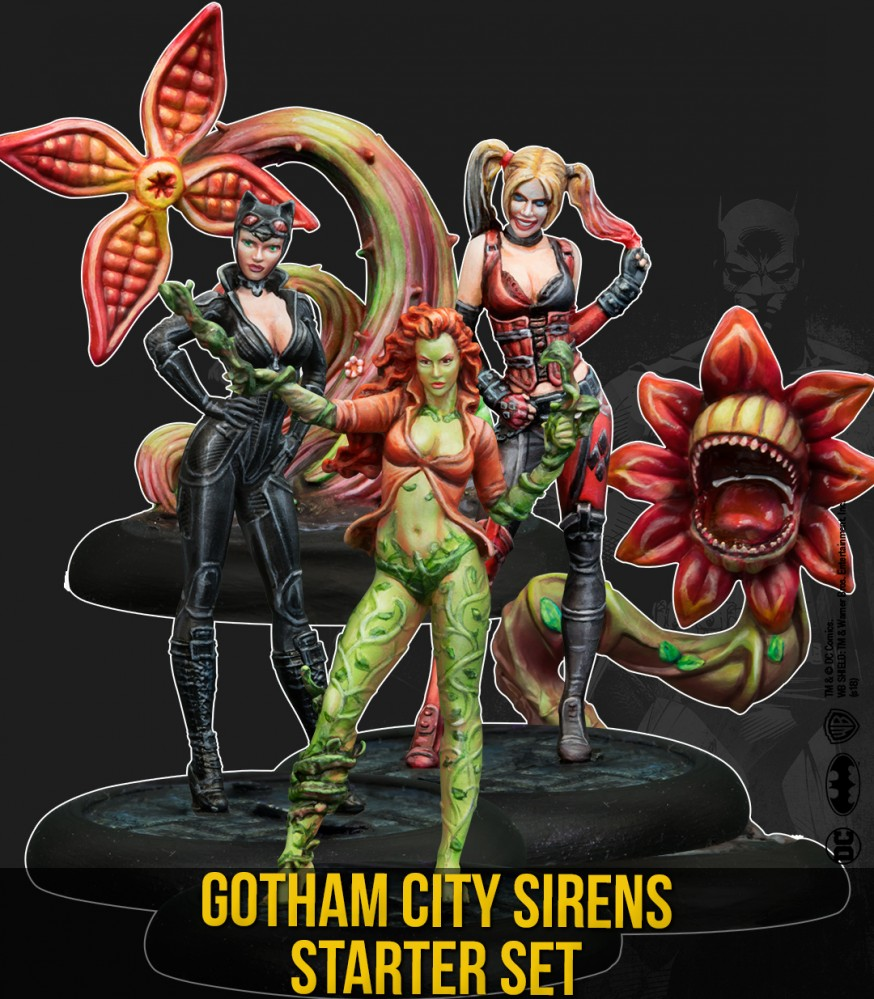 Harley Quinn 3d Wallpaper Gotham City Sirens Starter Set Knight Models
