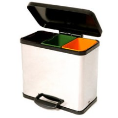 Small Recycling Bins For Kitchen Design App Recyling Recycle Uk Recylcing Ovetti Ovetto 30 Litre Triple Bin