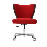 Jenny Upright Armless Desk Chair With Cruciform Base ...