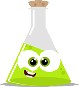 2018 Science Fair Green Beaker Cartoon