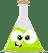 2018 Science Fair Green Beaker Cartoon