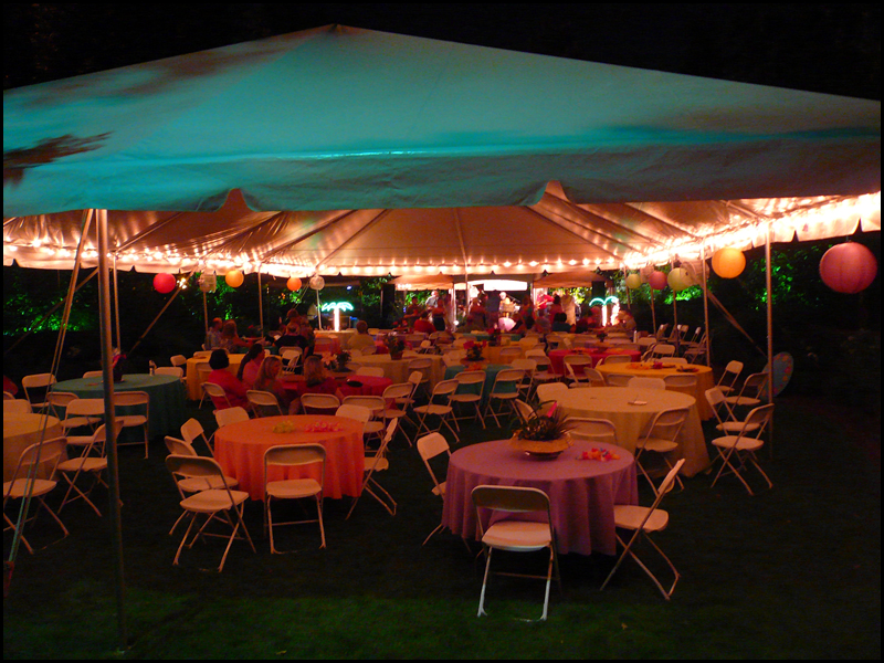 Perimeter Tent Lighting  Knights Rental  Making Your