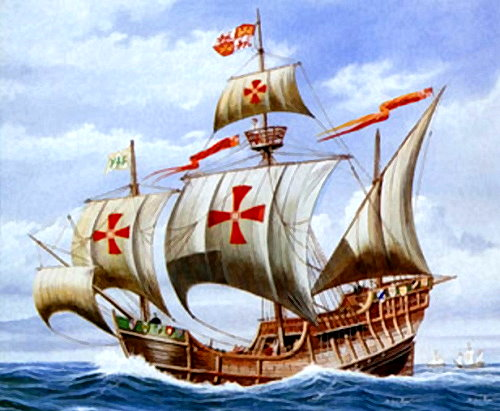 Templar Galley Ship (Santa Maria III of Christopher Columbus in 1492 AD)