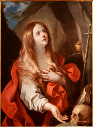 'Penitent Mary Magdalene' (ca. 1635 AD) by Francesco Gessi at Peyton Wright Gallery