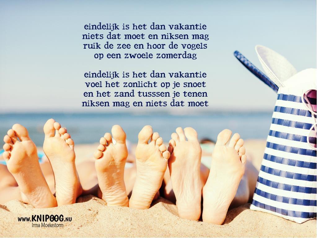 Gedichten : Vakantie - Knipoog.nu