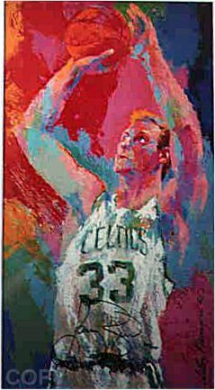 Leroy Neiman, 33 for 3: Larry Bird
