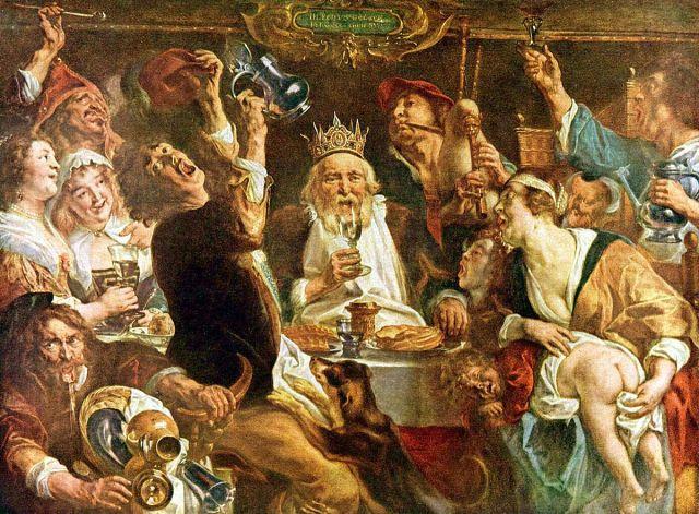 Jacob Jordaens, The King Drinks