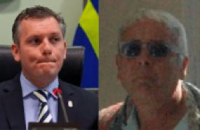 links: oud-premier Gerrit Schotte - rechts casinobaas Francesco Corallo