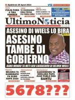 Ultimo Noticia- met het artikel 'Asesino do Wiels lo bira: Asesino tambe di Gobieno