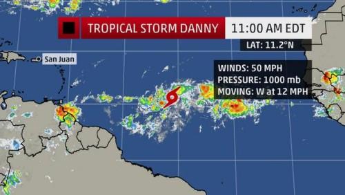 Danny zet koers naar Saba, St. Eustatius en St. Maarten