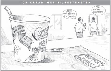 Icecream met bijbelteksten Cartoon Antilliaans Dagblad