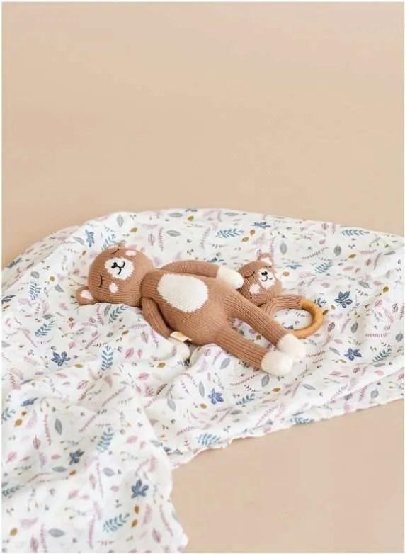 Peluche de oso de algodón organico artesanal