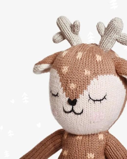 Peluche de ciervo de algodón organico artesanal