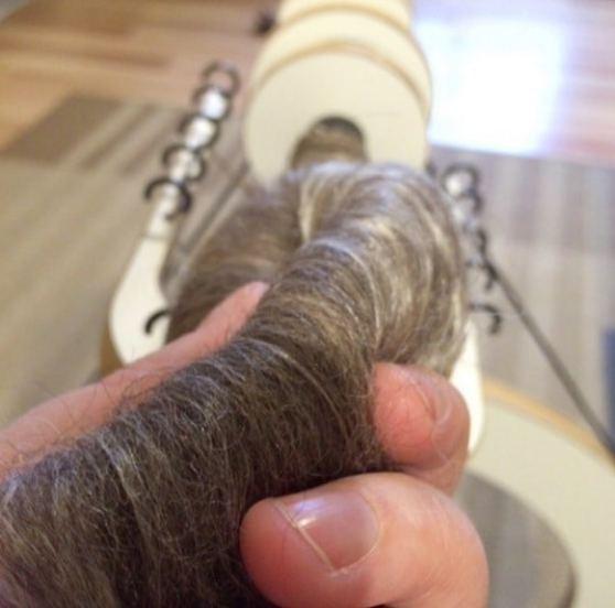 wensleydale alpaca silk from Fondant Fibre