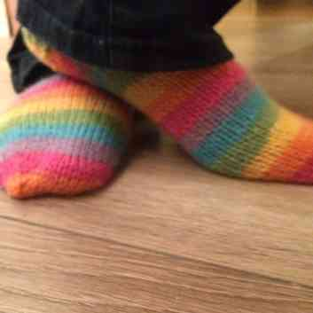 my finished socks, pattern by Winnick Mum