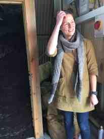 Hazel in the Woolshed