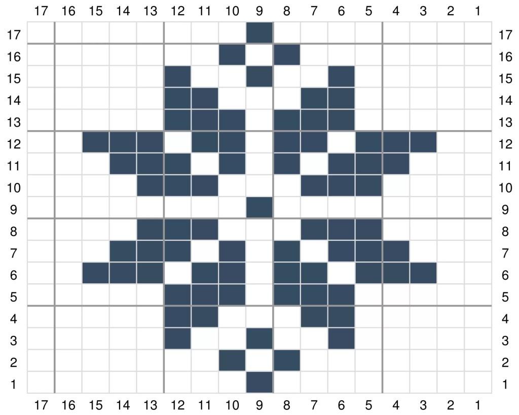 Snowflake knitting chart