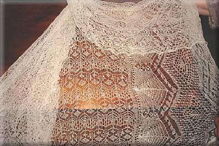 Wedding ring shawl detail