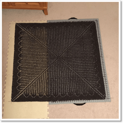 Travel Shawl blocking