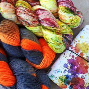 bright yarn scraps Lise Condis