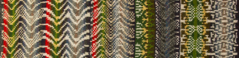 A4074 swatch from the KNITSONIK Stranded Colourwork Sourcebook