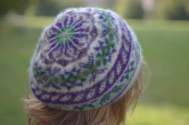 Shwook hat, designed by Hazel Tindall for Shetland Wool Week 2014