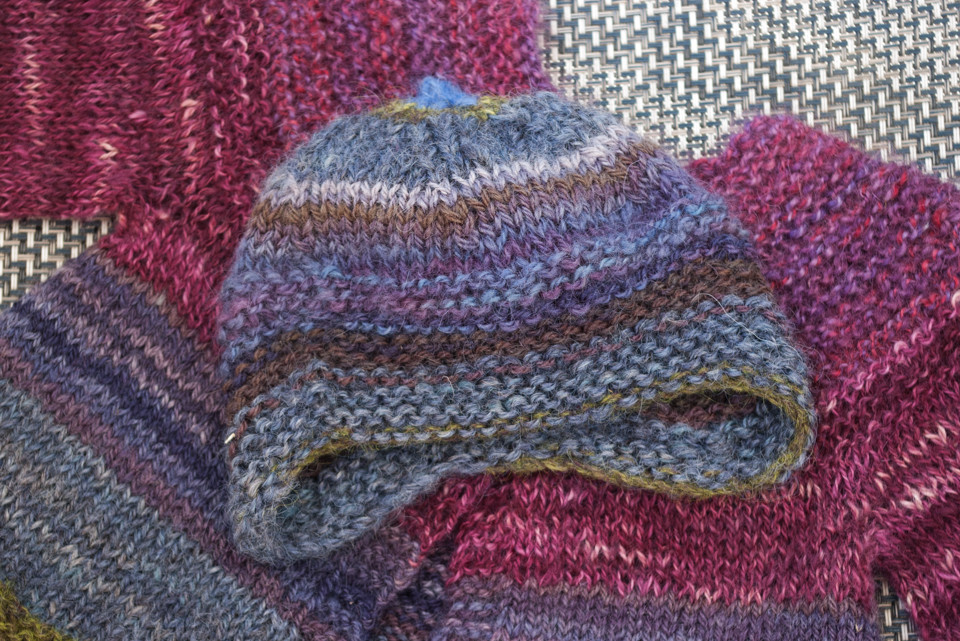 Quynn worked in Brenda Dayne's handspun