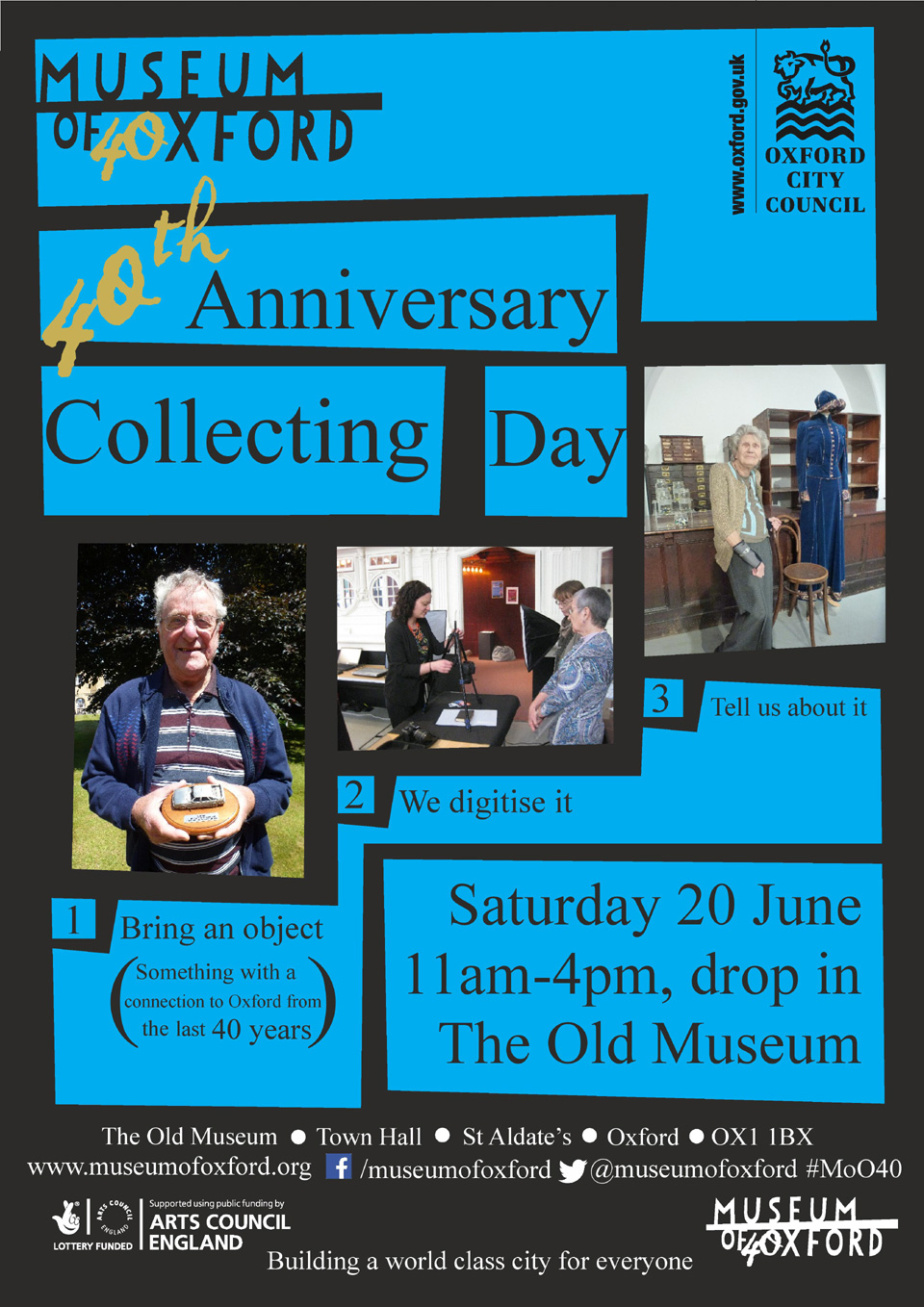 Document your objects and textile objects from Oxford's past 40 years or so