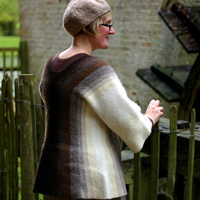 Layter, designed with wool purchased at Woolfest in 2009 from the Blacker Yarns stall, and celebrating shepherding and shearing traditions in Cumbria