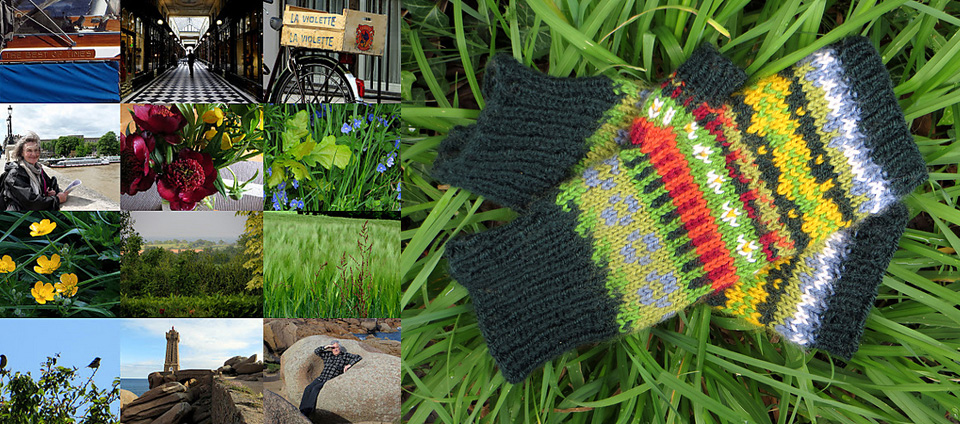 """""""I'm too impatient and thrifty to just make a swatch (superwash and acrylic isn't recommended for steeking, something I've not yet quite got the courage to do anyway) and thought I ought to make something wearable."""" - AMAZING May-inspired mitts, designed and knitted by Lucy"""