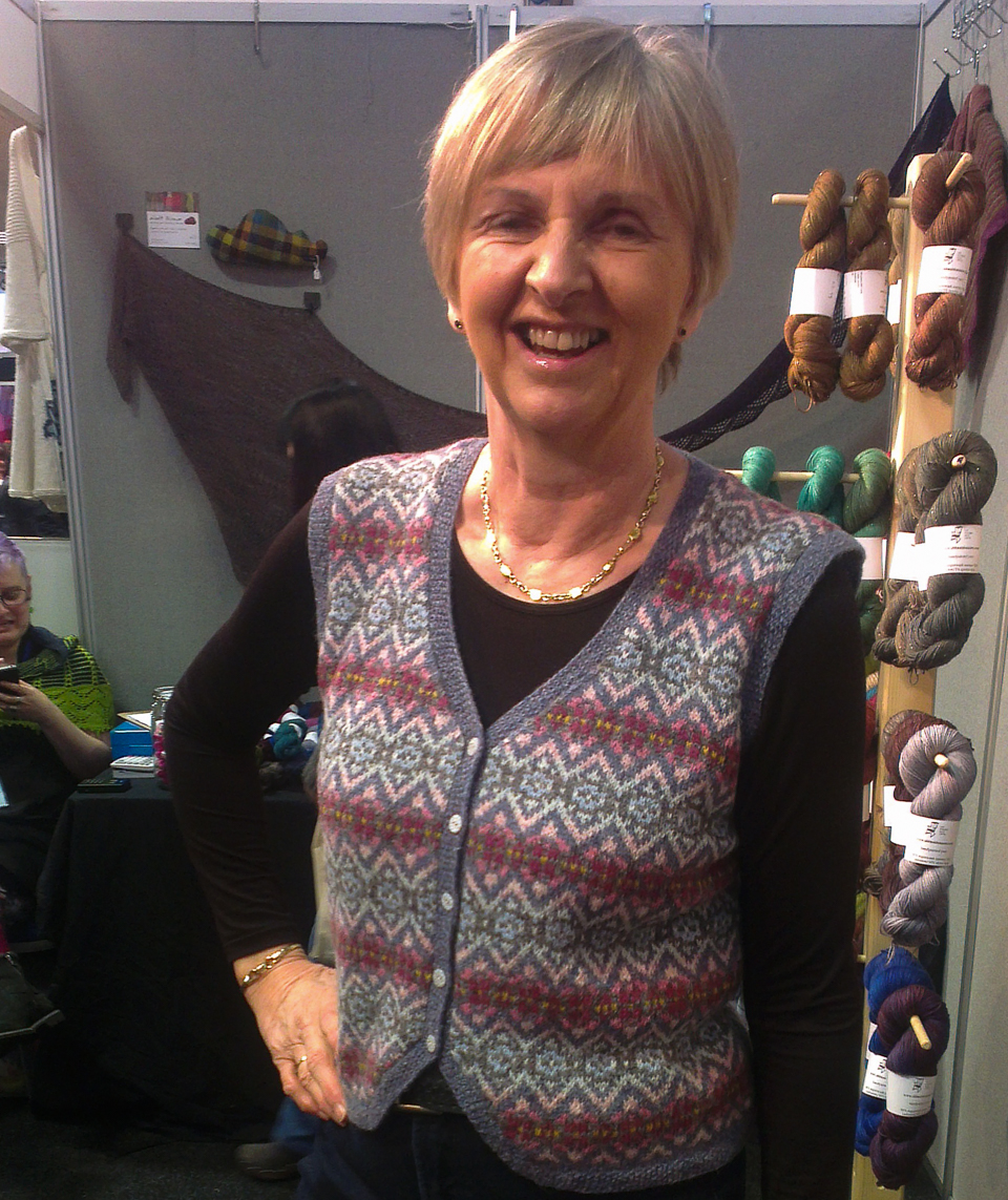 Helen's magnificent vest, based on a dry stone wall
