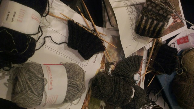 #knitsonikmittsalong - some of us casting on together in Shetland!