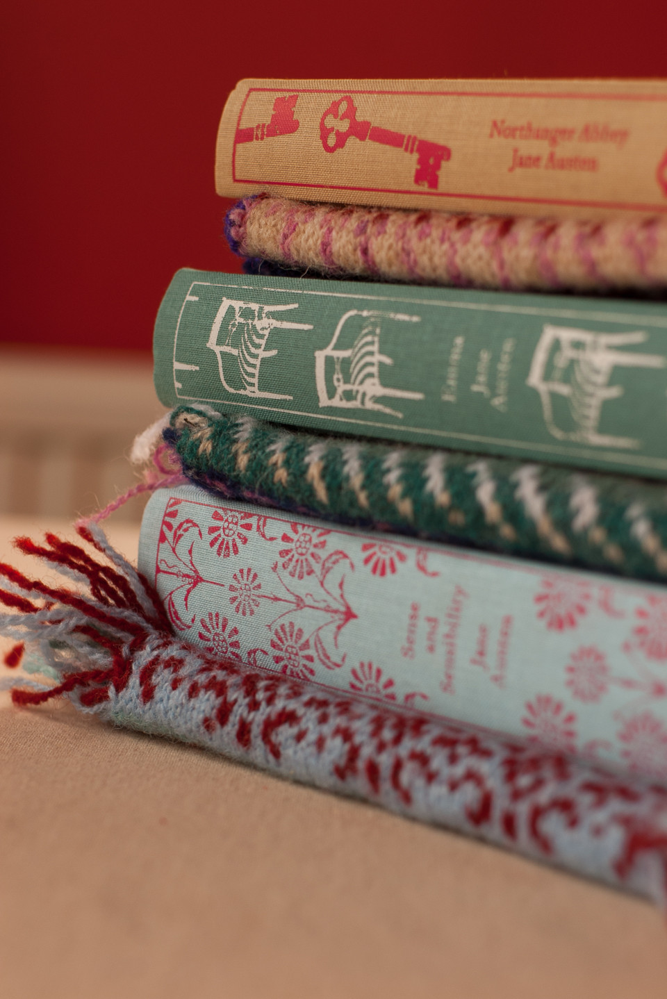 The three editions of Jane Austen's novels that inspired Judith's wondrous vest