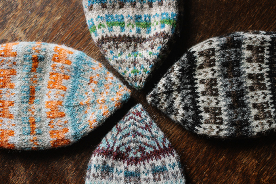 Four lovely versions of the Crofthoose Hat