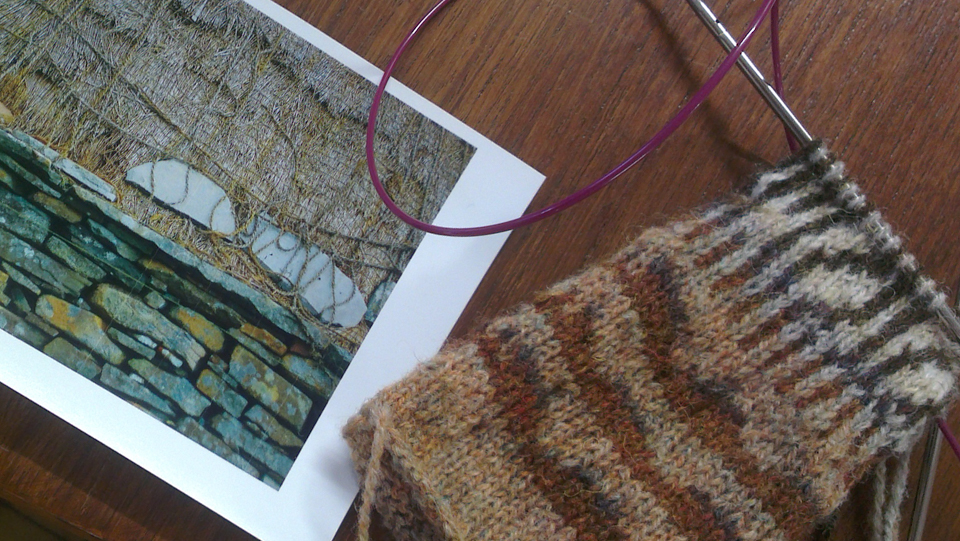 A swatch produced at Shetland Wool Week in one of my classes at Jamieson & Smith