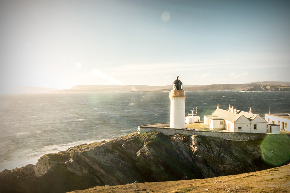 The Bressay Lighthouse, photo © Tom Barr and used with kind permission