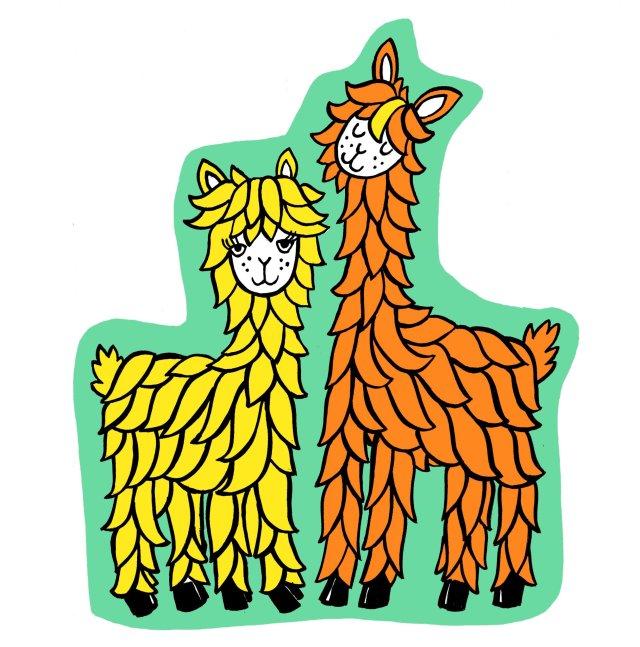 Boris & Donald - the alpaca festival mascots!