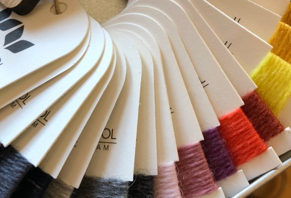 West Wool color cards