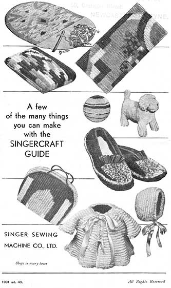 The UK Singercraft Guide Instructions » Knitting-and.com